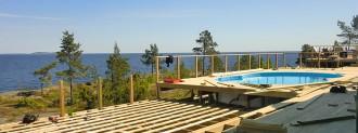 Norrlandsbyggarna - större villa byggd vid havet