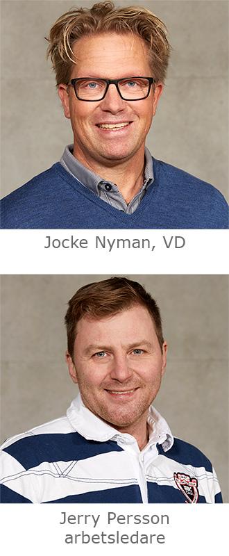 Jocke Nyman, VD. Jerry Persson, arbetsledare